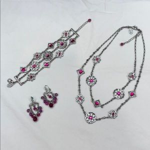 WHBM necklace, bracelet, and earrings